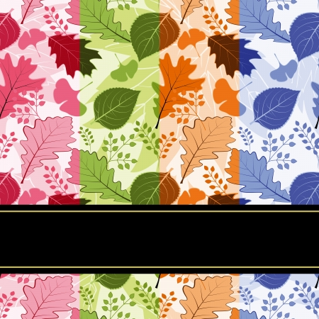 four season: Colorful four season leaves seamless pattern background Illustration