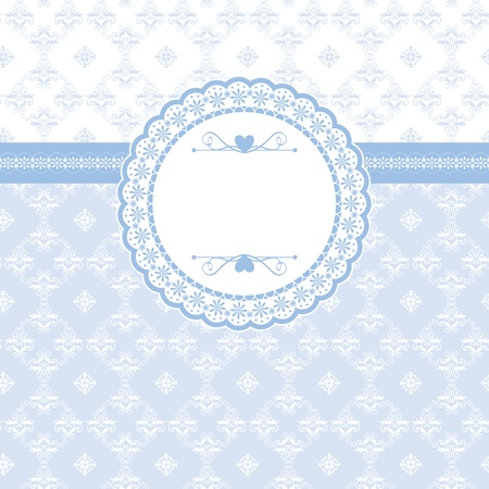 Greeting card with vintage elements seamless background Vector