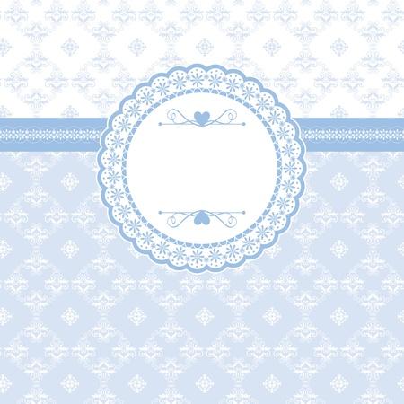 Tarjeta de felicitación con elementos clásicos de fondo sin fisuras