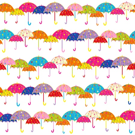 Colorful Umbrella Seamless Pattern Background Vector