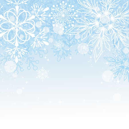 greeting card backgrounds: Blue Christmas Background with Copy Space