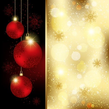 Sparkling Christmas Crystal Ball Greeting Card Vector