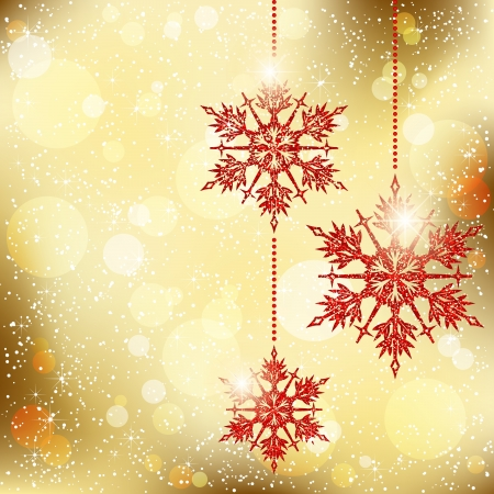 Sparkling Christmas Snowflakes Greeting Card Vector