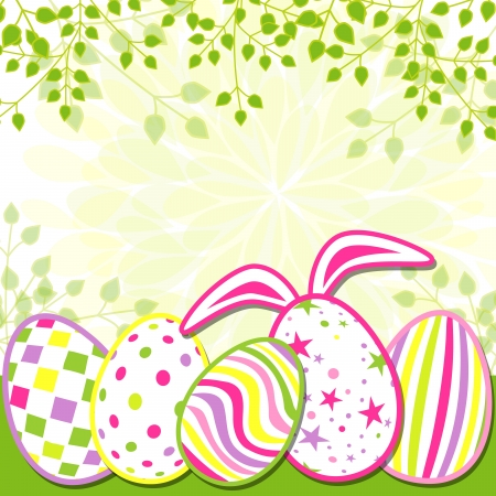 Springtime Easter Holiday Greeting Card Stock Vector - 18662479