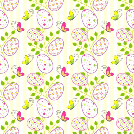 Colorful Easter holiday seamless pattern background Vector