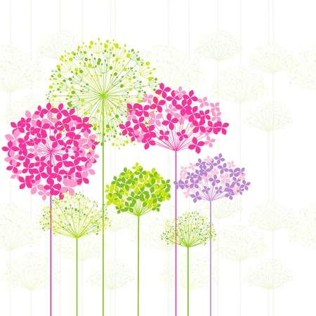 dandelion abstract: Springtime Colorful Flower on Dandelion Seamless Pattern Background