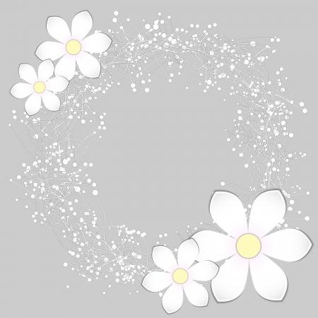 babys: White Paper Flower Card Design Background Illustration