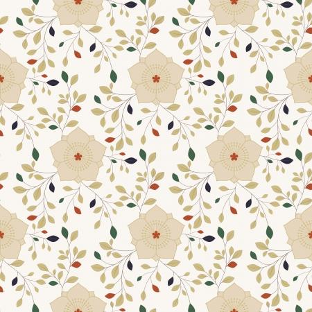 oriental flower: Colorful Oriental Flower Seamless Pattern Background