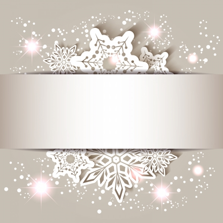 Sparkling Christmas Star Snowflake Greeting Card Illustration