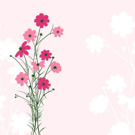 springtime: Springtime Colorful Flower on Pink Background Illustration