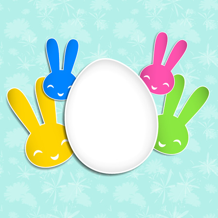 Springtime Easter holiday Background. Image contains a gradient mesh Vector