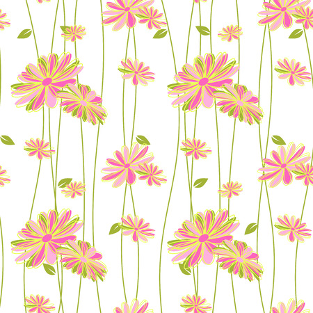 Colorful Flower Seamless Pattern Background Wallpaper