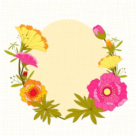 springtime: Springtime Colorful Flower Background Greeting Card