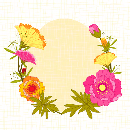 Springtime Colorful Flower Background Greeting Card