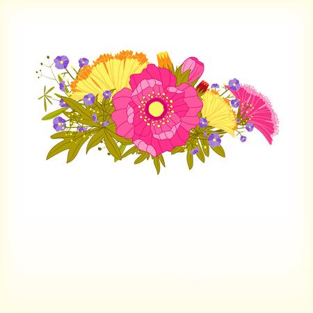 springtime: Springtime Colorful Flower Greeting Card Background