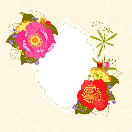 camellia:  Colorful Flower Invitation Card