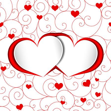 st valentine: San Valent�n en forma de coraz�n rojo del amor de fondo Vectores