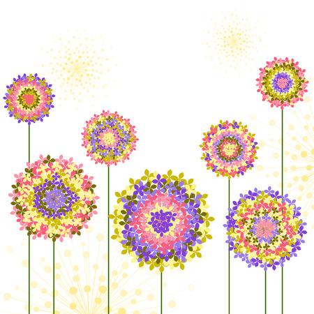 springtime: Springtime Colorful Hydrangea Flower Background Illustration