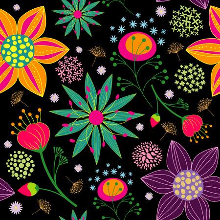 Printemps été Colorful Fleur Seamless fond