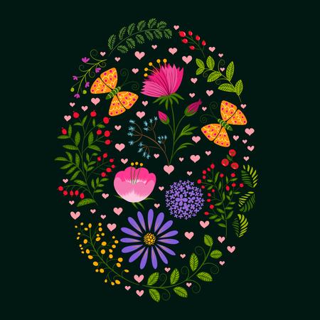 springtime: Springtime Colorful Flower Easter Holiday Background