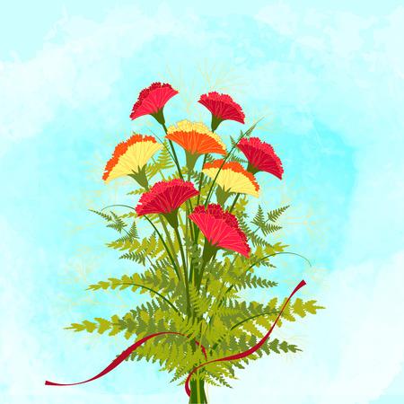 springtime: Springtime Colorful Carnation Flower Background