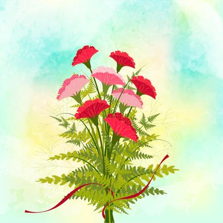 springtime: Springtime Red Carnation Flower Background
