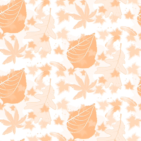 duotone: Duotone Autumn Seamless Pattern Background