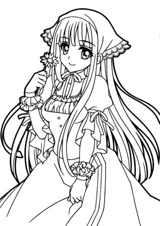 illustration of Coloring book for girls
