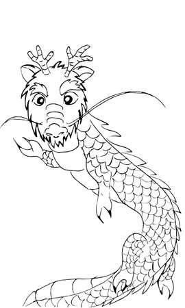 dragon illustration  Illustration