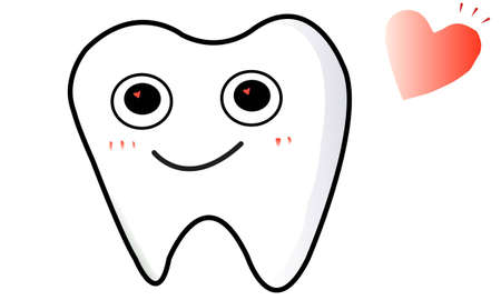 omission: The illustration of a lovely tooth  Illustration