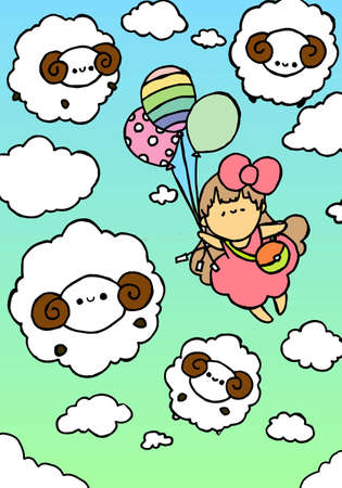 the sheep Illustration