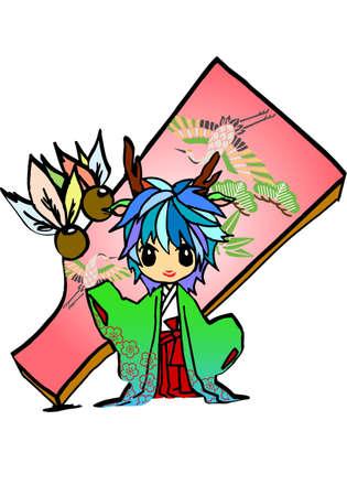 Dragon princesss illustration