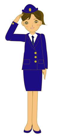 弓を日本の婦人警官