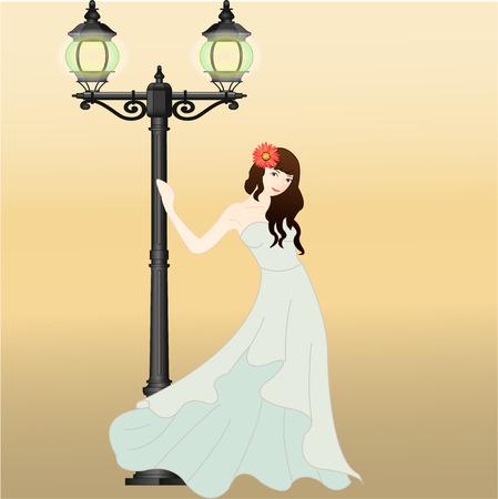 maxi dress: Girl in maxi dress