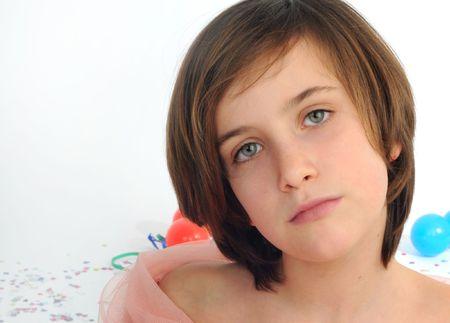 sweetness: a little girl with blu eyes