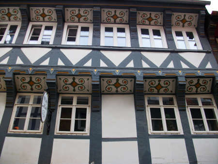 Ornament on an old house. German town of Goslar,Region Harz photo