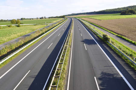 markings: High-speed road Stock Photo