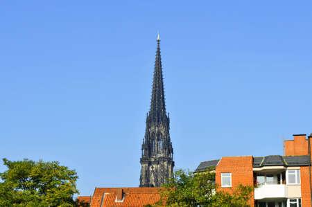 lutheran: St. Nikolays Lutheran church in Hamburg