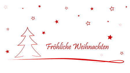 german Christmas Card Merry Christmas  Merry Christmas