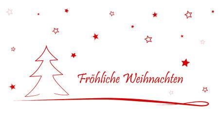 german Christmas Card Merry Christmas / Merry Christmas