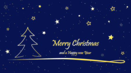Christmas Card Merry Christmas and Happy New Year