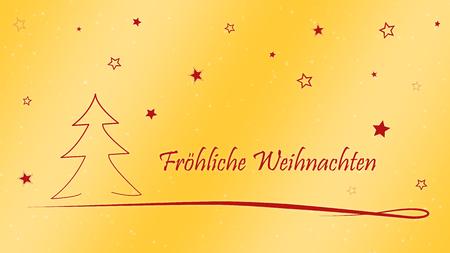 Duitse Kerstkaart Vrolijke Kerstmis  Vrolijke Kerstmis