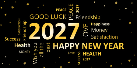 new year card with good wishes 2027