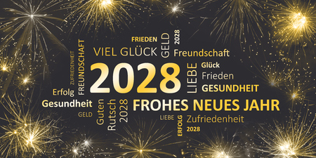 german black golden new year card with happy new year 2028 stock photo 90911785