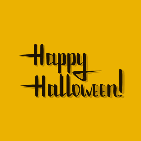 happy halloween lettering with shadow. For print on t-shirts, cards and placards. EPS10 Illustration