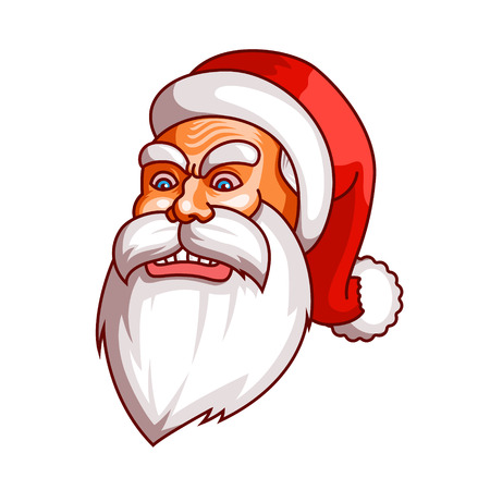 rage: Santa claus emotions. Part of christmas set. Ready for print. Rage, rampage, anger EPS10