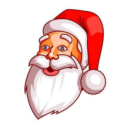 marvel: Santa claus emotions. Part of christmas set. Ready for print. surprise, wonder, marvel EPS10