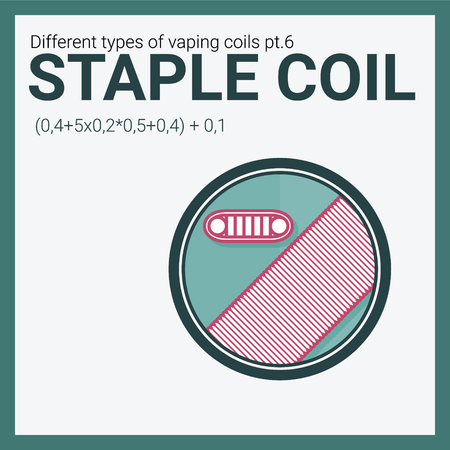 Vector illustration vaping coil. Part of big set. Staple.