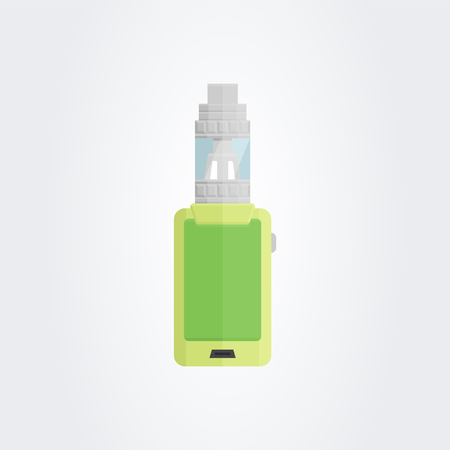 inhale: Colored flat vaping device.