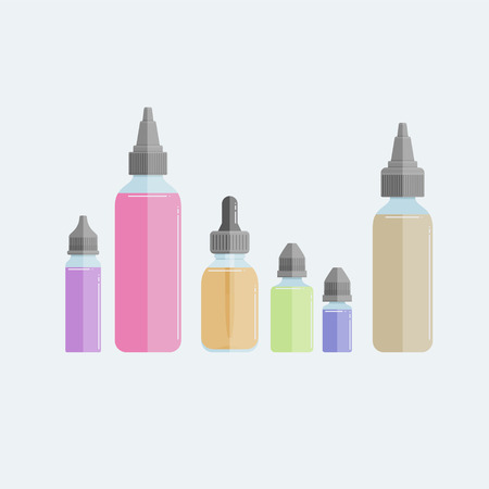 Set of vape e-liquids